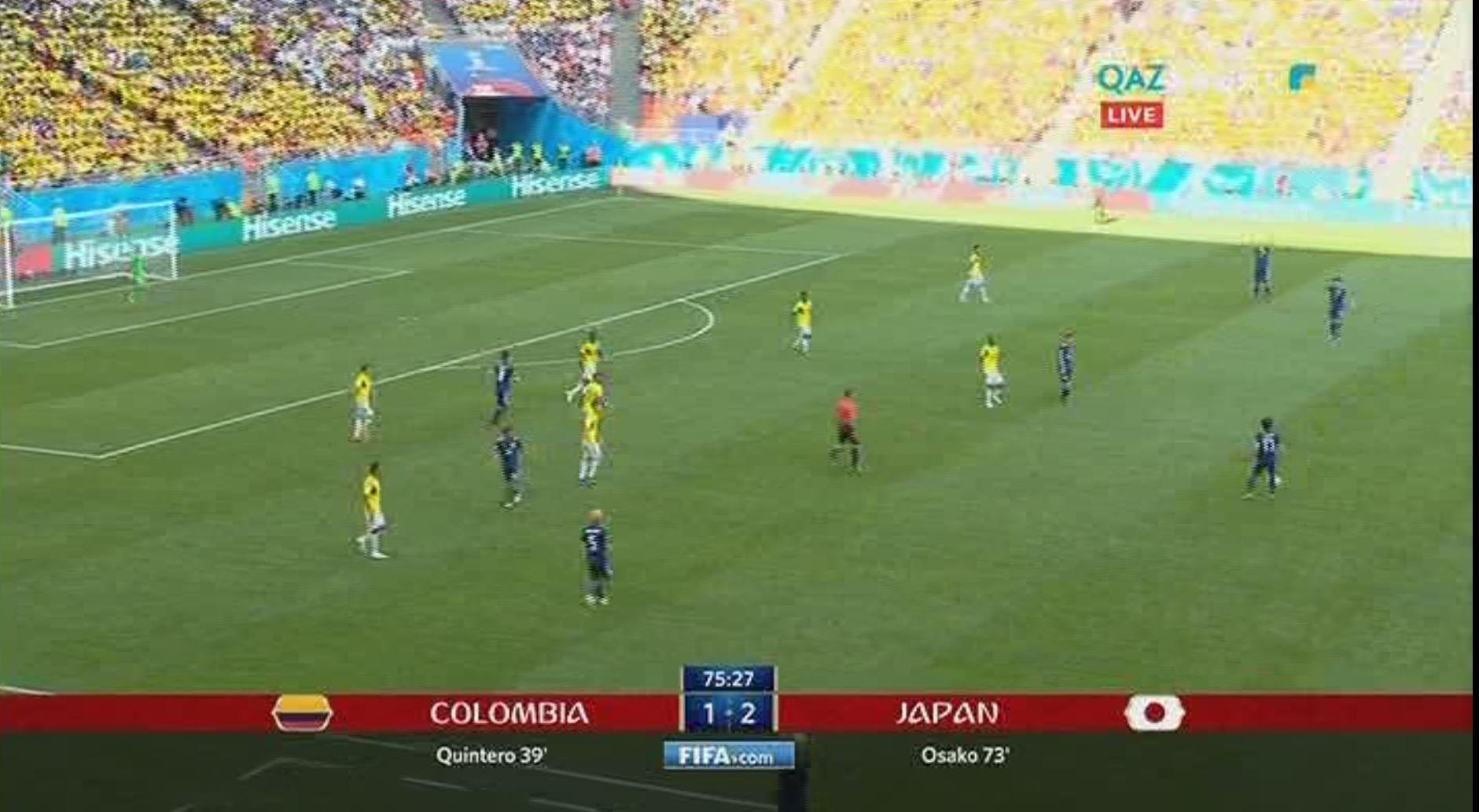 Сборная Японии обыграла Колумбию в матче ЧМ-2018